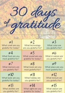 thirty days of gratitude