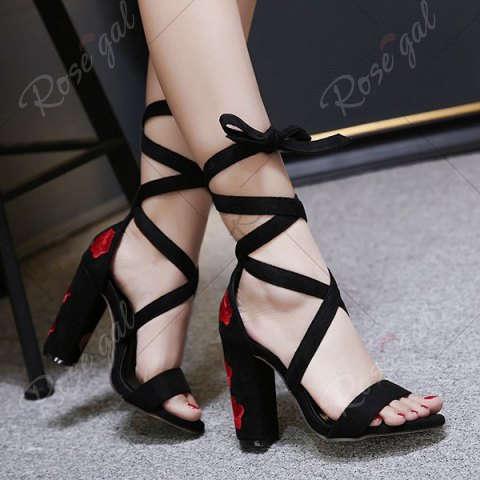 rosegal wishlist embroidery block heels