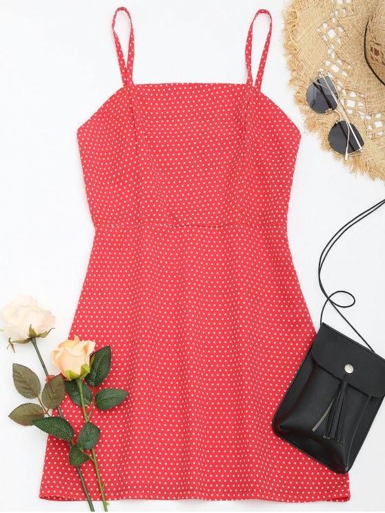 polka dot mini cami dress